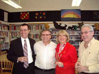 From the left, current principal Michael Languay, retired principal Andy Nardozza, current vice-principal Deborah Angelus and retired principal Bernie Praw.
