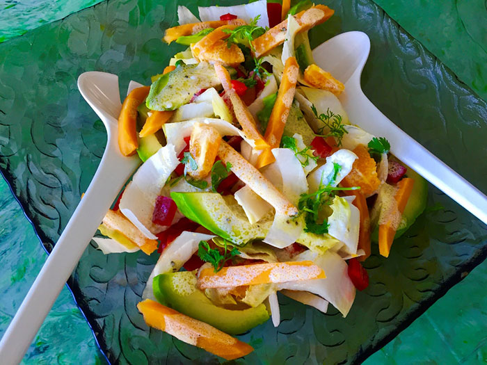 Corn, Avocado, Sweet potato and Red Pepper Salad by Brita Housez (Stolz)