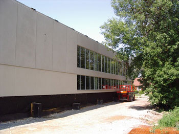 Eastern side of new gym
