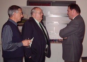 Gordon Richardson C'60, Jack Anderson C'71 and Denis St. Pierre, Chairman of Chambly Academy Governing Board