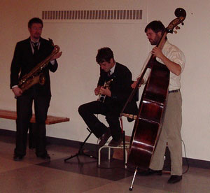 Jazz Trio perform at official opening