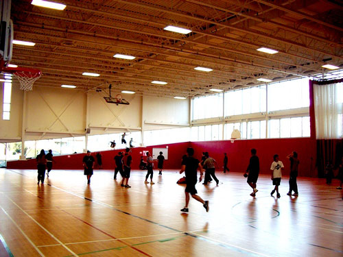 New Gym gets used By Chambly Academy students