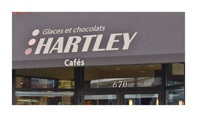 Hartleys began in the former Dupuy Lumber main office located at Prince Arthur and St. Denis, later moved to a back alley adjacent to Castoguay's Cycle, and now occupies large premises on the north side of Victoria Ave.