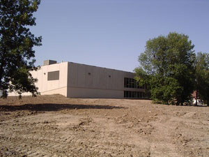 Back of new Gym