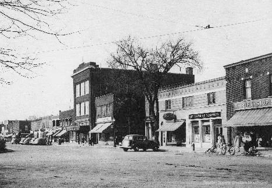 Early photo of St. Lambert Commercial District