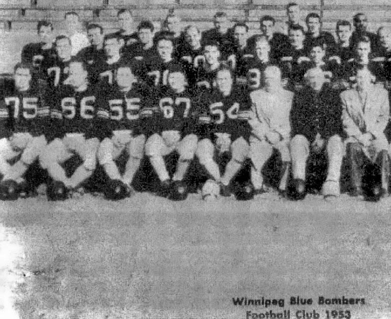 Winnipeg Blue Bombers Football Club 1953